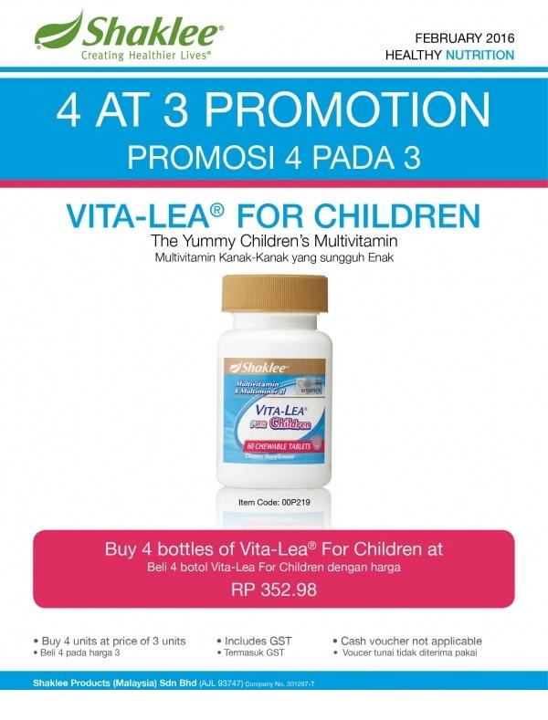 Promosi Shaklee Februari 2016 - Vitalea For Children