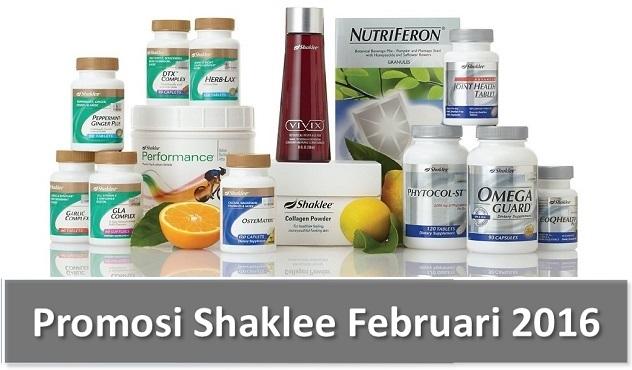 Promosi Shaklee Februari 2016