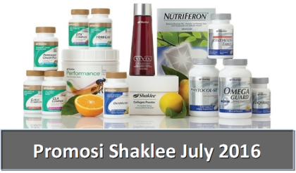 Promosi Shaklee July 2016