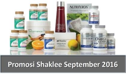 Promosi Shaklee September 2016