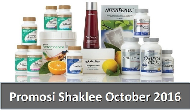 Promosi Shaklee October 2016