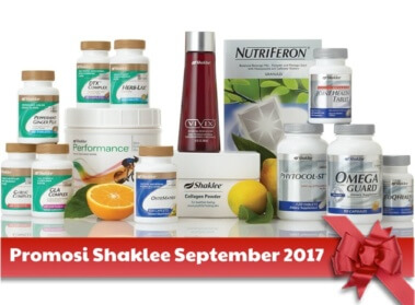 Promosi Shaklee September 2017