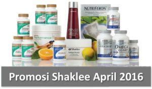 Promosi Shaklee April 2016