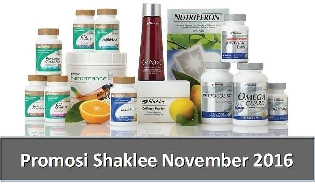 Promosi Shaklee November 2016