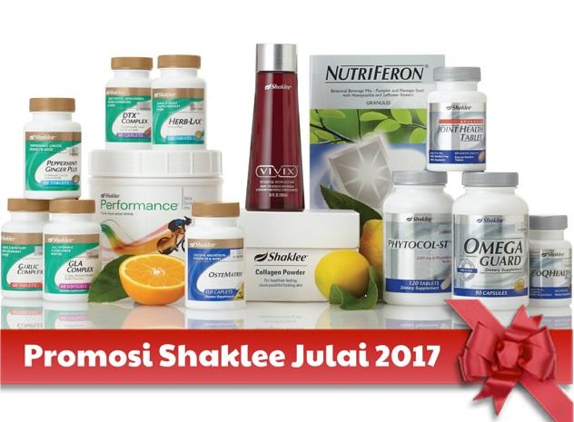 Promosi Shaklee Julai 2017