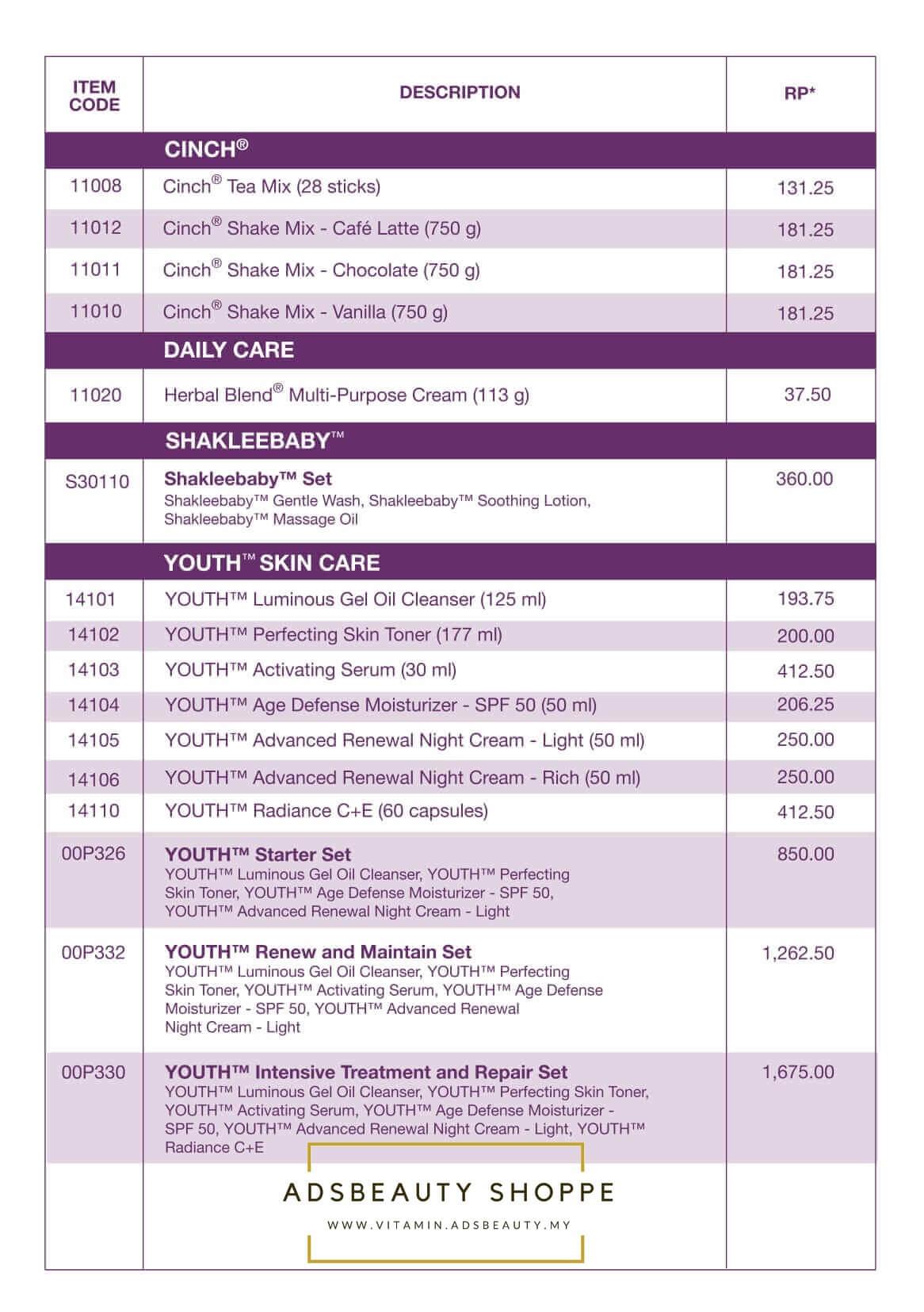 Senarai Harga Produk Shaklee 2018 Senarai Harga Shaklee 2018 Harga Ahli Shaklee 2018 Harga Ahli Produk Shaklee 2018 Terbaru Lengkap