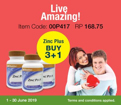 Promosi Zinc Shaklee Jun 2019
