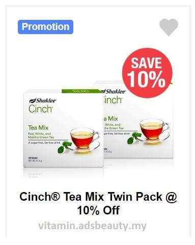 Cinch Tea Shaklee Harga Promo